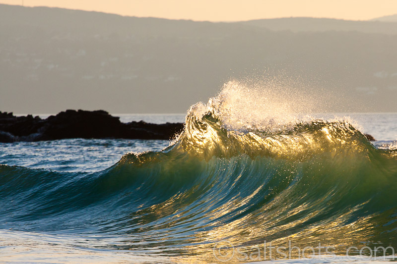 Refracting wave at Godrevy